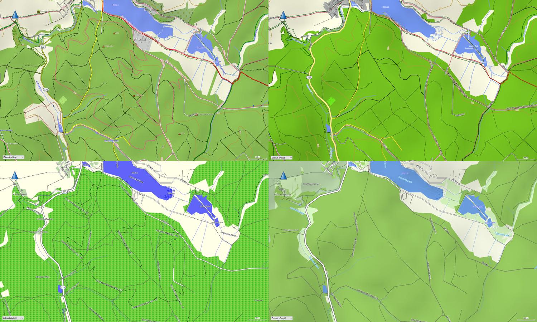 Velké srovnání map TopoActive Europe, Cycle Map EU, Topo