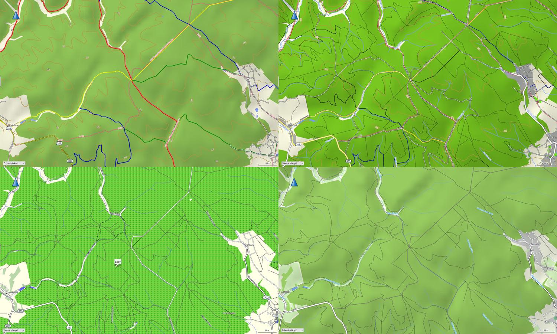 Velké srovnání map TopoActive Europe, Cycle Map EU, Topo Czech 2013